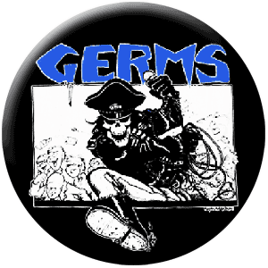 Germs - Leather Skull (Button)