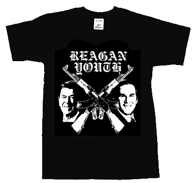 Reagan Youth/ Weapons T-Shirt - Click Image to Close
